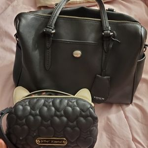 Coach satchel with Betsey Johnson bag